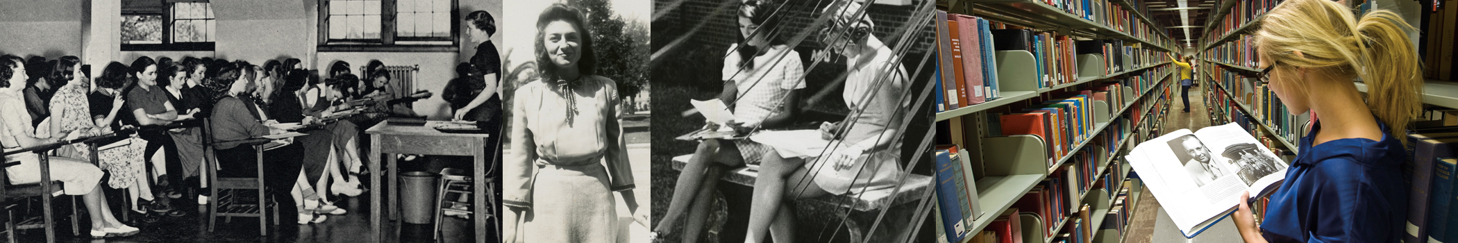 Photos of female FSU students, past to present