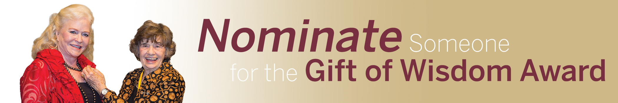 Nominate Someone for the Gift of Wisdom Award