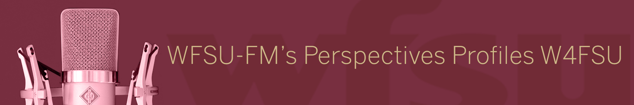 WFSU-FM's Perspectives Profiles W4FSU