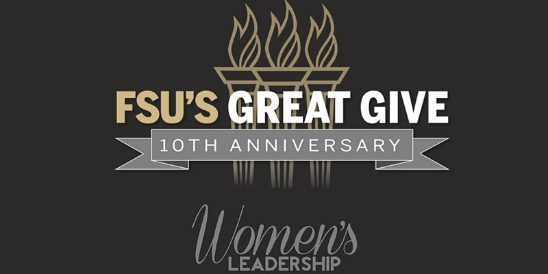 Logos for FSU's Great Give and the Women's Leadeship Institute