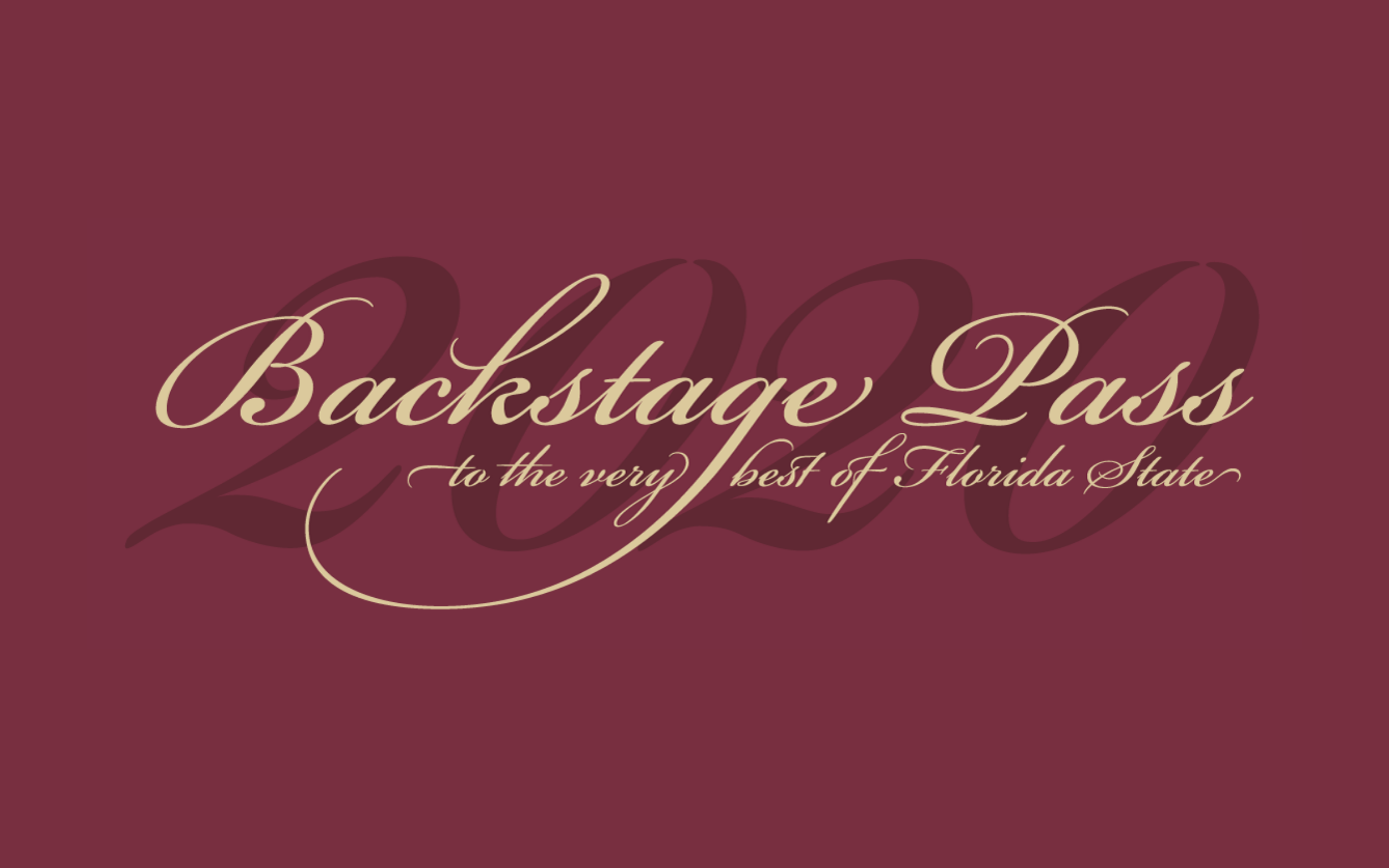 Backstage Pass to the Very Best of Florida State 2020