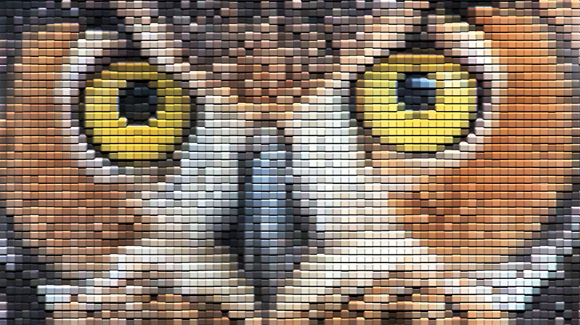 Mosaic owl from early Backstage Pass invitation