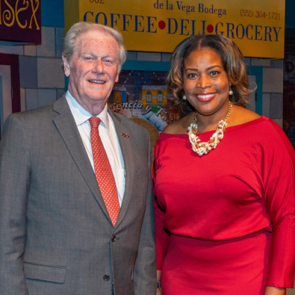 President Thrasher and award winner Felicia M. Brunson